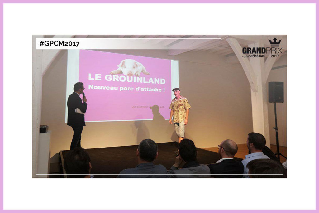 Imposture pour le grand prix de la Créativité Com & Médias (Nantes, juillet 2017).