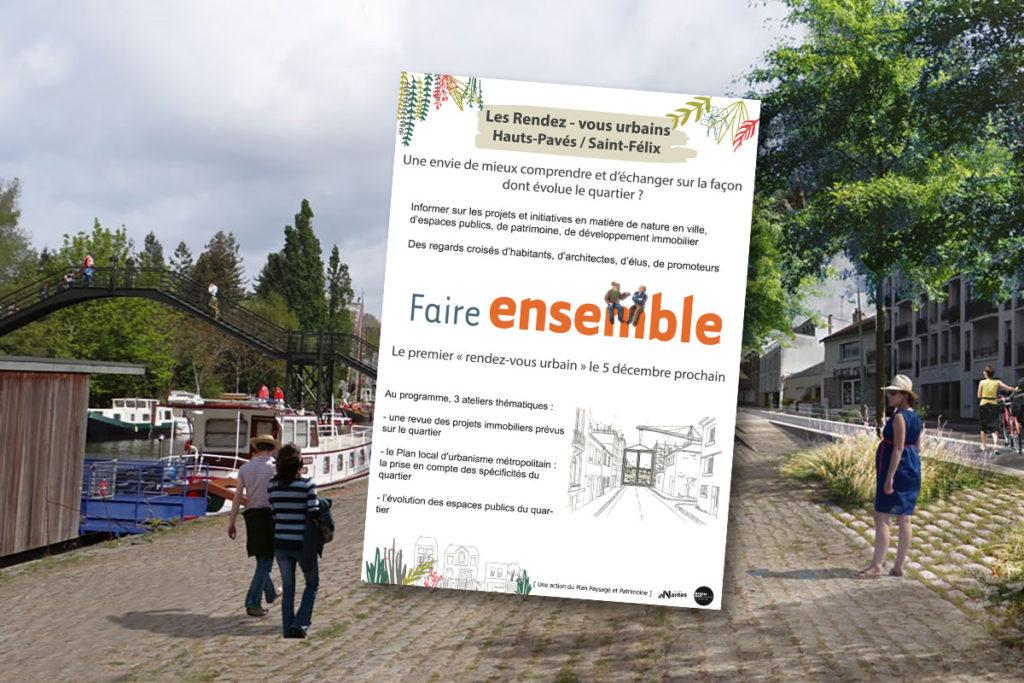 Animation du premier rendez-vous urbain Hauts-Pavés Saint-Félix (Nantes, décembre 2017).