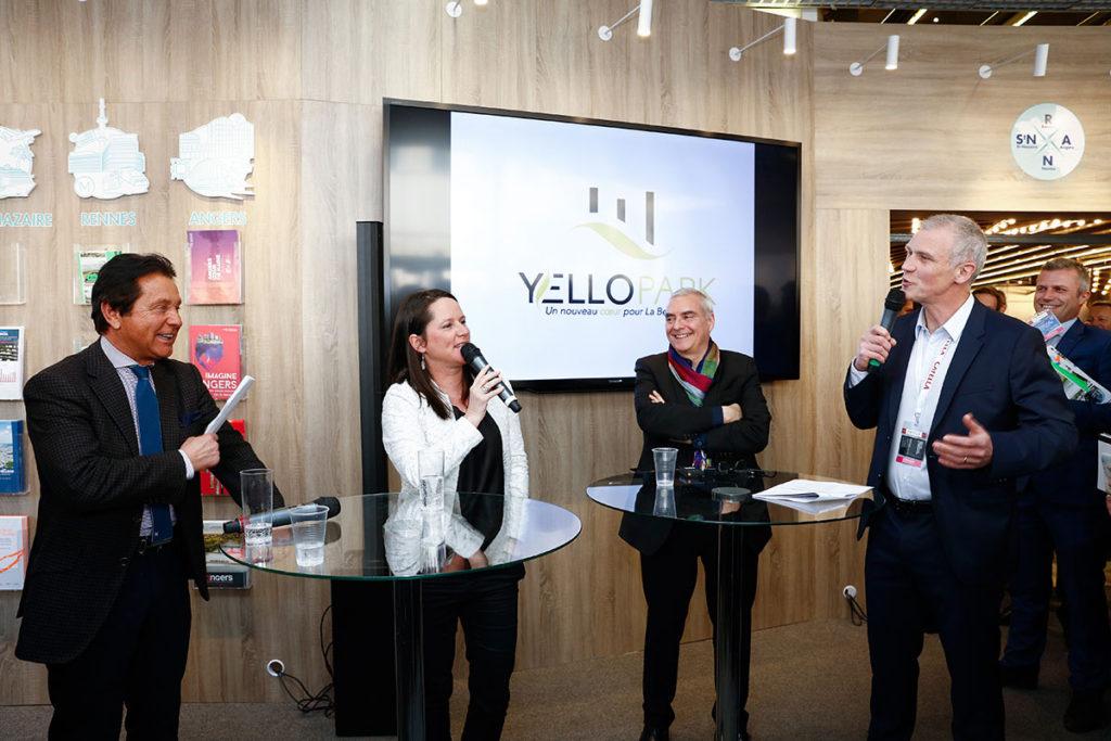 Animation d'une table ronde sur le projet YelloPark au MIPIM (mars 2018).