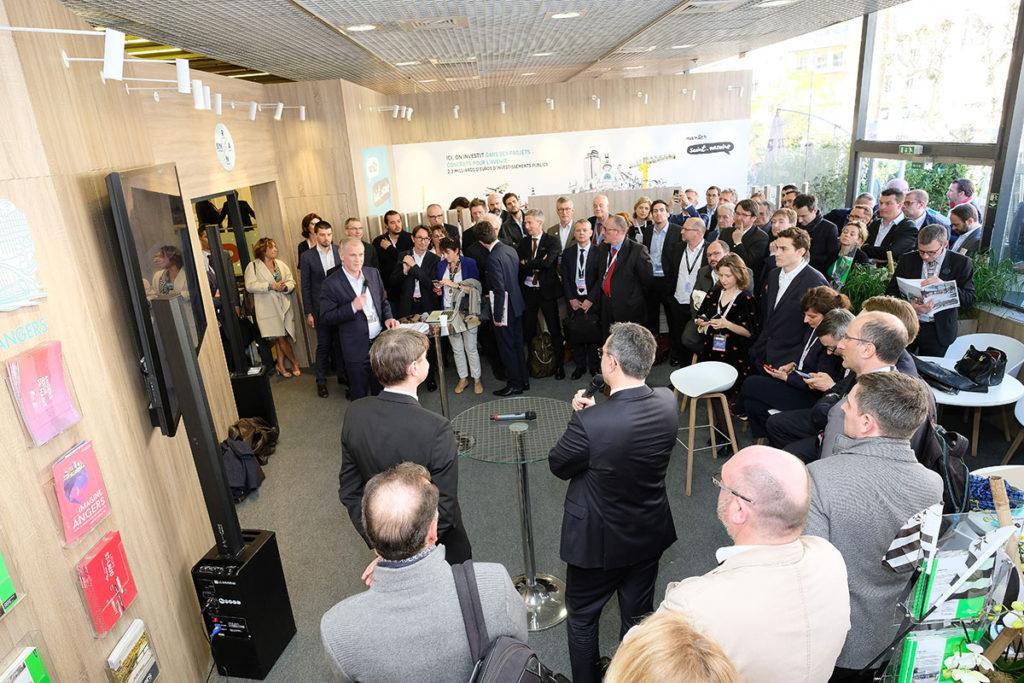 Animation d'une table ronde sur le Palais du Commerce de Rennes. Avec Sébastien Sémeril, adjoint à la maire de Rennes et Thierry Barral, Directeur du développement de Poste Immo.