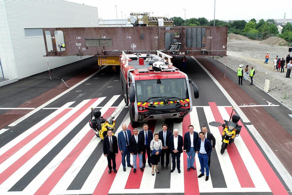 Inauguration du Boulevard des Apprentis sur la zone industrielle portuaire de Saint-Nazaire (juillet 2018)