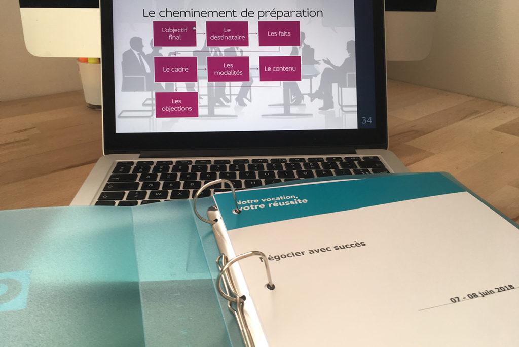 Animation d'une session de formation à la négociation pour Orsys (Rennes).
