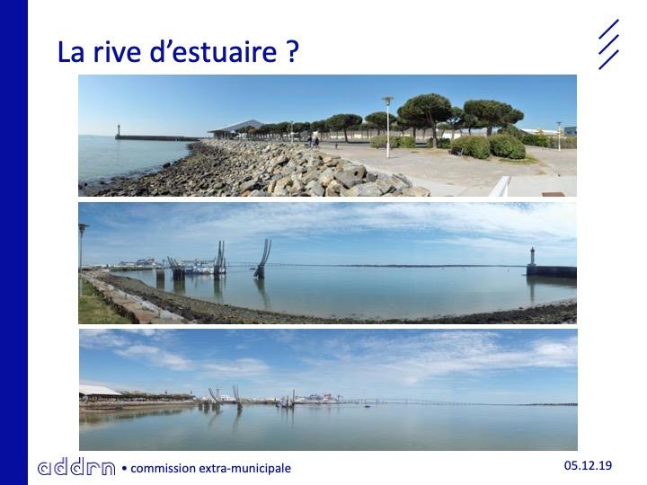 """Visuel de l'agence de d'urbanisme de la région nazairienne pour la commission extra-municipale """"Ambitions maritimes"""" de Saint-Nazaire (5 décembre 2019)"""